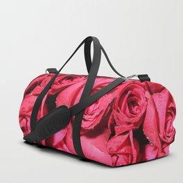 Dark Pink Roses Duffle Bag