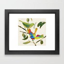 Painted Buntings Framed Art Print
