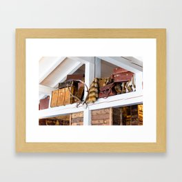 Mountain chalet Framed Art Print