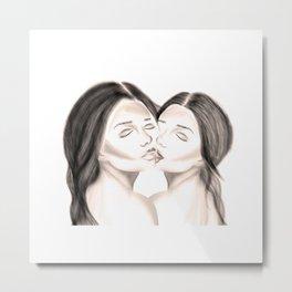 embrassé Metal Print