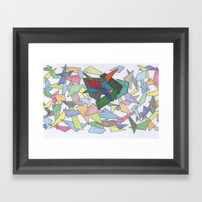Shapes ... some bold Framed Art Print
