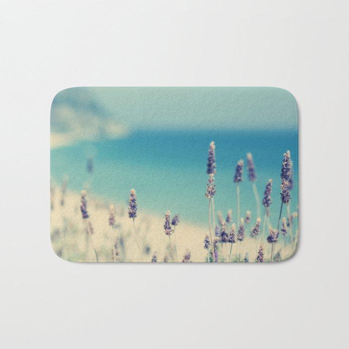 beach - lavender blues Bath Mat