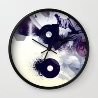 freud Wall Clocks featuring freud' ego by ferzan aktas