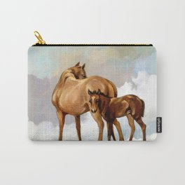 Thoroughbred Mare and Foal Carry-All Pouch