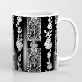 The Hierophant - A Tarot Floral Pattern Coffee Mug