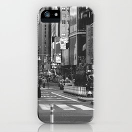 Let my imagination go (B&W) iPhone Case