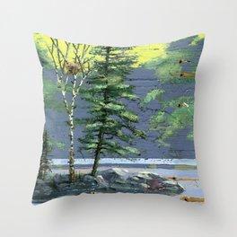 eagle's nest Throw Pillow