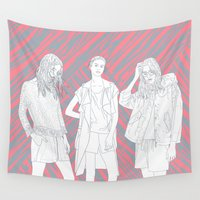 girls Wall Tapestries featuring Girls by Katilinova