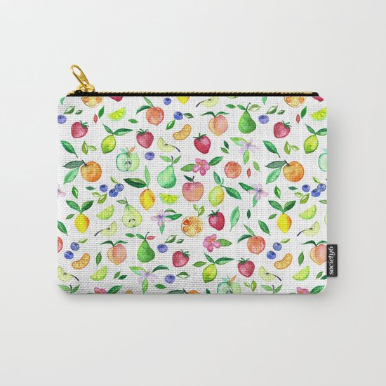 Fresh Fruit - a watercolor pattern Carry-All Pouch