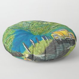 Tennessee Cabriolet Spring Drive Floor Pillow