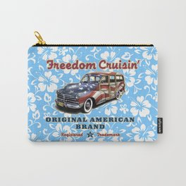 Freedom Crusin' Hawaiian Woody Design - blue colorway Carry-All Pouch