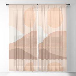 Abstraction_SUN_MOUNTAINS_BOHO_Minimalism_001 Sheer Curtain