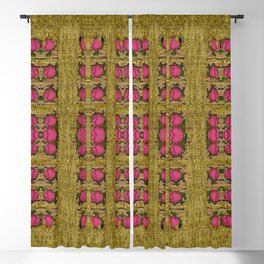 Bloom in gold shine and you shall be strong Blackout Curtain