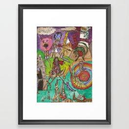 Broken Time Machine Framed Art Print
