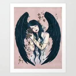 Wither Gothic Angel Of Decay Art Print