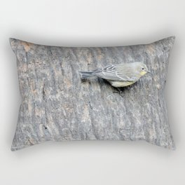 TEXTURES -- Warbler on Palm Bark Rectangular Pillow