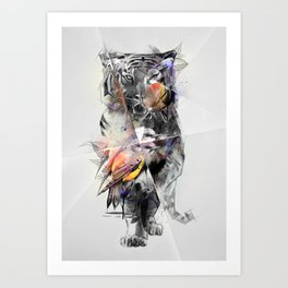 Tiger Triangle Art Print