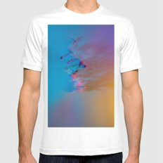 Don't Forget to Stop to Smell the Flowers MEDIUM White Mens Fitted Tee