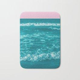 Teal Oceans Pink Skies Bath Mat