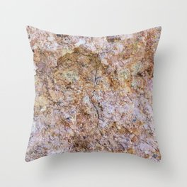 Abstract orange granite pattern Throw Pillow