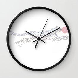 cheetah pop Wall Clock
