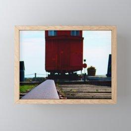 The track and the Train Framed Mini Art Print