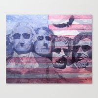 america Canvas Prints featuring America by K. M. B. Wells