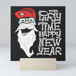 New Year Santa Mini Art Print