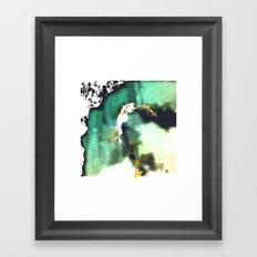 the model Framed Art Print