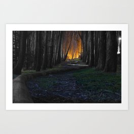 Haunted Forest and Andrew Goldsworthy Sculpture Art Print