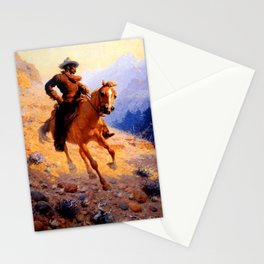 "William Leigh Western Art ""Looking For Strays"" Stationery Cards"