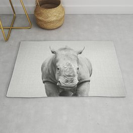 Rhino 2 - Black & White Rug