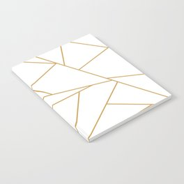 Geometric Gold Hexagon Pattern Notebook