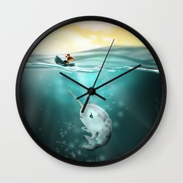 Narwhal meets Girl Wall Clock