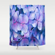 Hydrangea Flowers : Periwinkle Blue Lavender Pink Shower Curtain