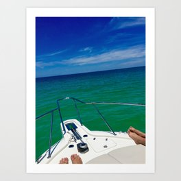 Gulf of Mexico Boat Ride Art Print