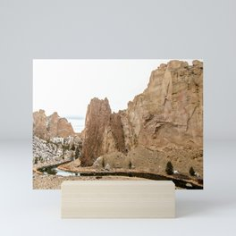 Smith Rock Oregon Desert Sunset - Nature Photography Mini Art Print