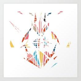 Medusa's Scream on White Art Print