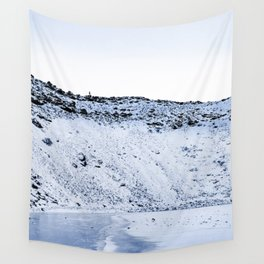 Kerid Crater In Winter, Iceland Wall Tapestry