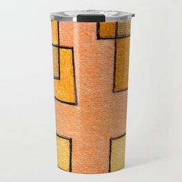 Protoglifo 04 'yellow hugging pink' Travel Mug