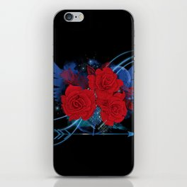 Roses and wings rock chic iPhone Skin