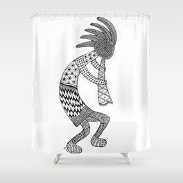 Tangled Kokopelli Shower Curtain