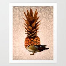 Pineapple Duck Art Print