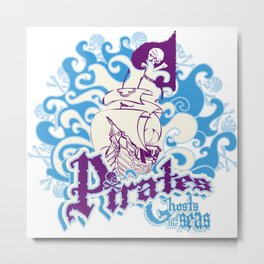 Pirates Metal Print