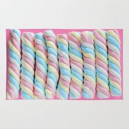 Rainbow Marshmallow Candy Rug