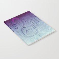 Aqua Purple Ombre Music Notes Notebook