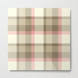 Plaid 3b Metal Print