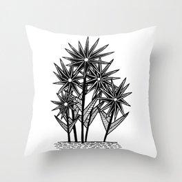 Spikey Pointy Flower Throw Pillow