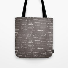 Life on a Chalkboard Tote Bag