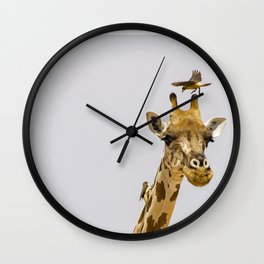 Perch of the Wild Wall Clock